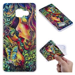 Butterfly Kiss 3D Relief Matte Soft TPU Back Cover for Samsung Galaxy A3 2016 A310