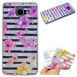 Striped Roses Super Clear Soft TPU Back Cover for Samsung Galaxy A3 2016 A310