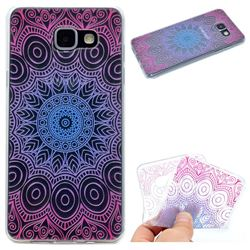 Colored Mandala Super Clear Soft TPU Back Cover for Samsung Galaxy A3 2016 A310