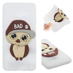Bad Boy Owl Soft 3D Silicone Case for Samsung Galaxy A3 2016 A310 - Translucent White