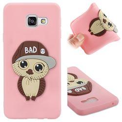 Bad Boy Owl Soft 3D Silicone Case for Samsung Galaxy A3 2016 A310 - Pink