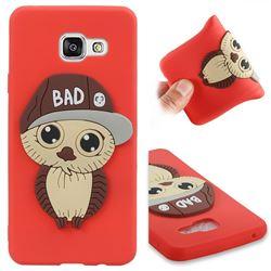 Bad Boy Owl Soft 3D Silicone Case for Samsung Galaxy A3 2016 A310 - Red