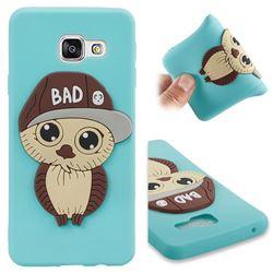 Bad Boy Owl Soft 3D Silicone Case for Samsung Galaxy A3 2016 A310 - Sky Blue
