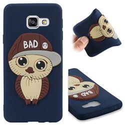 Bad Boy Owl Soft 3D Silicone Case for Samsung Galaxy A3 2016 A310 - Navy