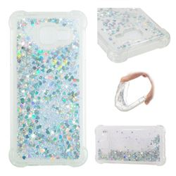 Dynamic Liquid Glitter Sand Quicksand Star TPU Case for Samsung Galaxy A3 2016 A310 - Silver