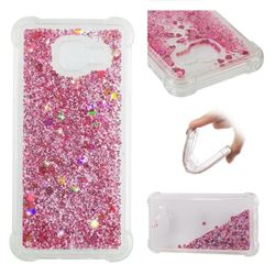 Dynamic Liquid Glitter Sand Quicksand Star TPU Case for Samsung Galaxy A3 2016 A310 - Diamond Rose