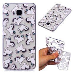 Pony Unicorn Super Clear Soft TPU Back Cover for Samsung Galaxy A3 2016 A310