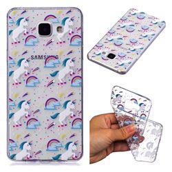 Rainbow Running Unicorn Super Clear Soft TPU Back Cover for Samsung Galaxy A3 2016 A310