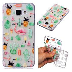 Cactus Flamingos Super Clear Soft TPU Back Cover for Samsung Galaxy A3 2016 A310