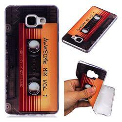Retro Cassette Tape Super Clear Soft TPU Back Cover for Samsung Galaxy A3 2016 A310