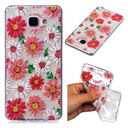 Chrysant Flower Super Clear Soft TPU Back Cover for Samsung Galaxy A3 2016 A310