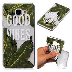Good Vibes Banana Leaf Super Clear Soft TPU Back Cover for Samsung Galaxy A3 2016 A310