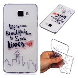 Line Castle Super Clear Soft TPU Back Cover for Samsung Galaxy A3 2016 A310
