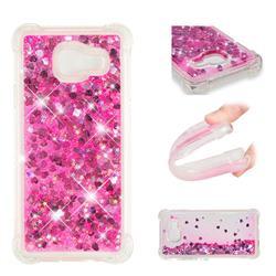 Dynamic Liquid Glitter Sand Quicksand TPU Case for Samsung Galaxy A3 2016 A310 - Pink Love Heart