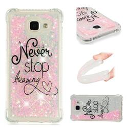 Never Stop Dreaming Dynamic Liquid Glitter Sand Quicksand Star TPU Case for Samsung Galaxy A3 2016 A310