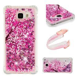 Pink Cherry Blossom Dynamic Liquid Glitter Sand Quicksand Star TPU Case for Samsung Galaxy A3 2016 A310