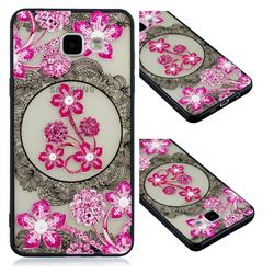 Daffodil Lace Diamond Flower Soft TPU Back Cover for Samsung Galaxy A3 2016 A310