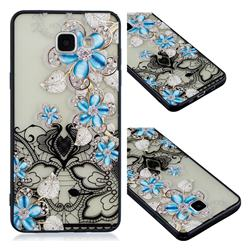 Lilac Lace Diamond Flower Soft TPU Back Cover for Samsung Galaxy A3 2016 A310