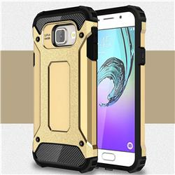 King Kong Armor Premium Shockproof Dual Layer Rugged Hard Cover for Samsung Galaxy A3 2016 A310 - Champagne Gold