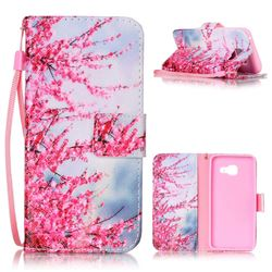 Plum Flower Leather Wallet Phone Case for Samsung A3 2016 A310