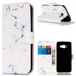 Soft White Marble PU Leather Wallet Case for Samsung Galaxy A3 2016 A310