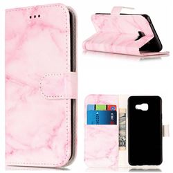 Pink Marble PU Leather Wallet Case for Samsung Galaxy A3 2016 A310