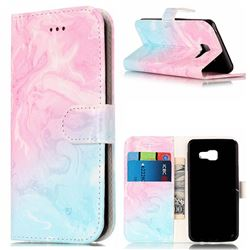 Pink Green Marble PU Leather Wallet Case for Samsung Galaxy A3 2016 A310