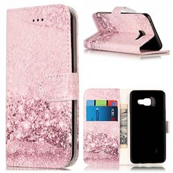 Glittering Rose Gold PU Leather Wallet Case for Samsung Galaxy A3 2016 A310