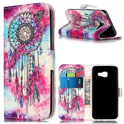 Butterfly Chimes PU Leather Wallet Case for Samsung Galaxy A3 2016 A310
