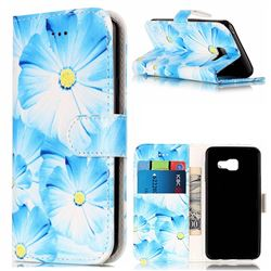 Orchid Flower PU Leather Wallet Case for Samsung Galaxy A3 2016 A310