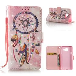 Bead Wind Chimes 3D Painted Leather Wallet Case for Samsung Galaxy A3 2016 A310