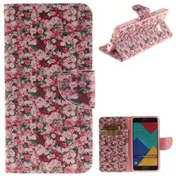 Intensive Floral PU Leather Wallet Case for Samsung Galaxy A3 2016 A310
