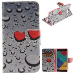 Heart Raindrop PU Leather Wallet Case for Samsung Galaxy A3 2016 A310