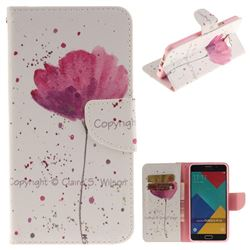 Purple Orchid PU Leather Wallet Case for Samsung Galaxy A3 2016 A310