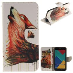 Color Wolf PU Leather Wallet Case for Samsung Galaxy A3 2016 A310