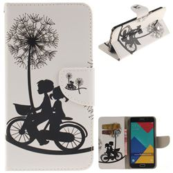 Cycling Dandelion PU Leather Wallet Case for Samsung Galaxy A3 2016 A310