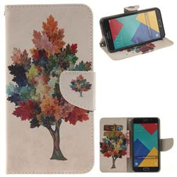 Colored Tree PU Leather Wallet Case for Samsung Galaxy A3 2016 A310