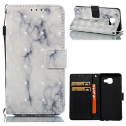 White Gray Marble 3D Painted Leather Wallet Case for Samsung Galaxy A3 2016 A310