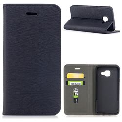 Tree Bark Pattern Automatic suction Leather Wallet Case for Samsung Galaxy A3 2016 A310 - Black