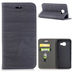 Tree Bark Pattern Automatic suction Leather Wallet Case for Samsung Galaxy A3 2016 A310 - Gray