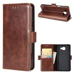 Luxury Crazy Horse PU Leather Wallet Case for Samsung Galaxy A3 2016 A310 - Coffee