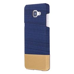Canvas Cloth Coated Plastic Back Cover for Samsung Galaxy A3 2016 A310 - Dark Blue