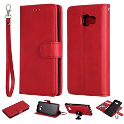 Retro Greek Detachable Magnetic PU Leather Wallet Phone Case for Samsung Galaxy A3 2016 A310 - Red