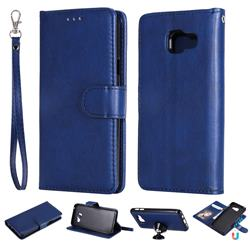 Retro Greek Detachable Magnetic PU Leather Wallet Phone Case for Samsung Galaxy A3 2016 A310 - Blue
