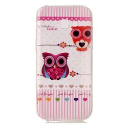 Owls Flower Super Clear Soft TPU Back Cover for Samsung Galaxy A3 2017 A320