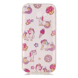 Unicorn Super Clear Soft TPU Back Cover for Samsung Galaxy A3 2017 A320