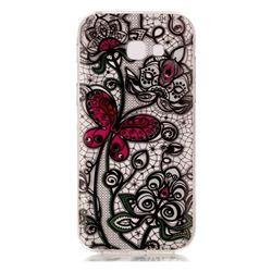 Butterfly Flowers Super Clear Soft TPU Back Cover for Samsung Galaxy A3 2017 A320