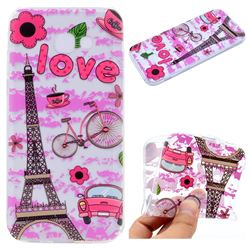 Love Eiffel Tower Super Clear Soft TPU Back Cover for Samsung Galaxy A3 2017 A320