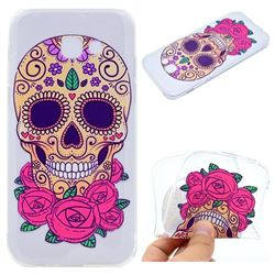 Skeleton Flower Super Clear Soft TPU Back Cover for Samsung Galaxy A3 2017 A320