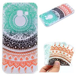 Tribe Flower Super Clear Soft TPU Back Cover for Samsung Galaxy A3 2017 A320